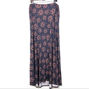 LuLaRoe High Low Hem Floral Maxi Skirt Plus Size